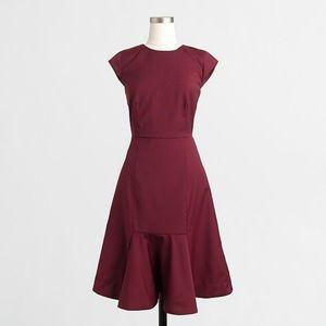 J. Crew Wool Ruffle Hem Dress